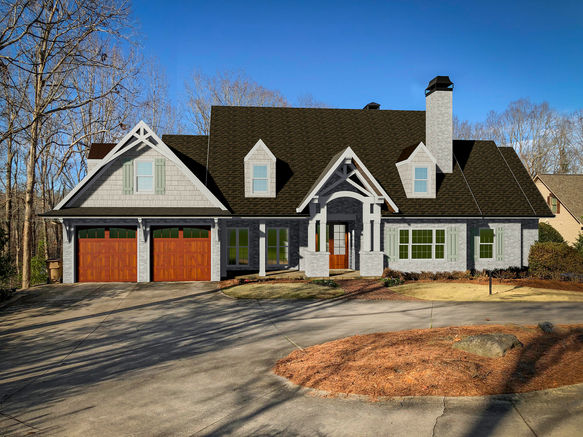 render after exterior home remodel design